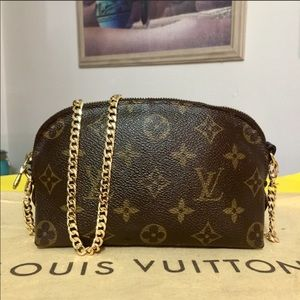 Reposted-Louis Vuitton Cosmetic Pouch Shoulder Bag